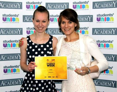 Natalie Jennings and Dr Laurel MacKenzie at the Manchester Teaching Awards.