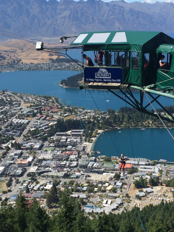 Hanging 400m over Queenstown